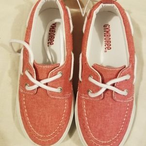 Gymboree canvas shoes NWT new youth size 12 red